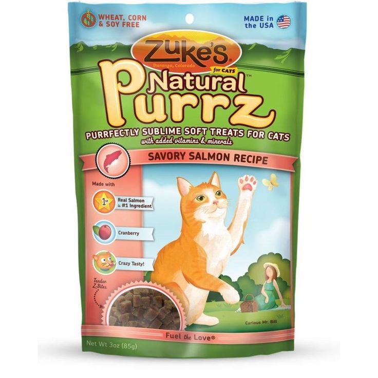 Zuke's Natural Purrz Savory Salmon Cat Treats are a healthy alternative to traditional cat treats. Cats are known for being finicky, but even the most discerning felines can't resist the delectable taste of Natural Purrz.