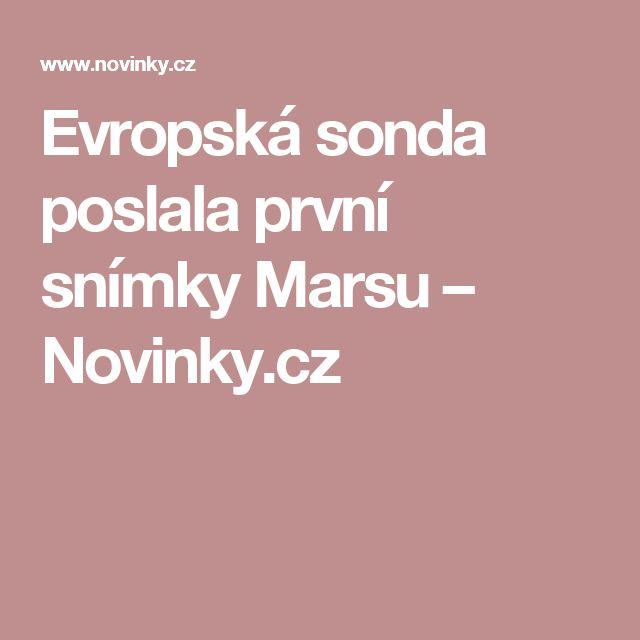 Evropská sonda poslala první snímky Marsu– Novinky.cz