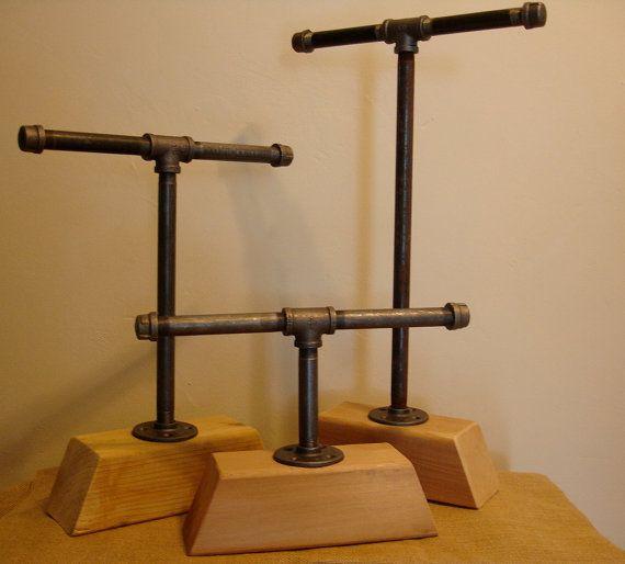 Modern Chunky Pipe Industrial Necklace // Bracelet // Watch // Jewelry Organizer // Photo Display // Craft Show Display