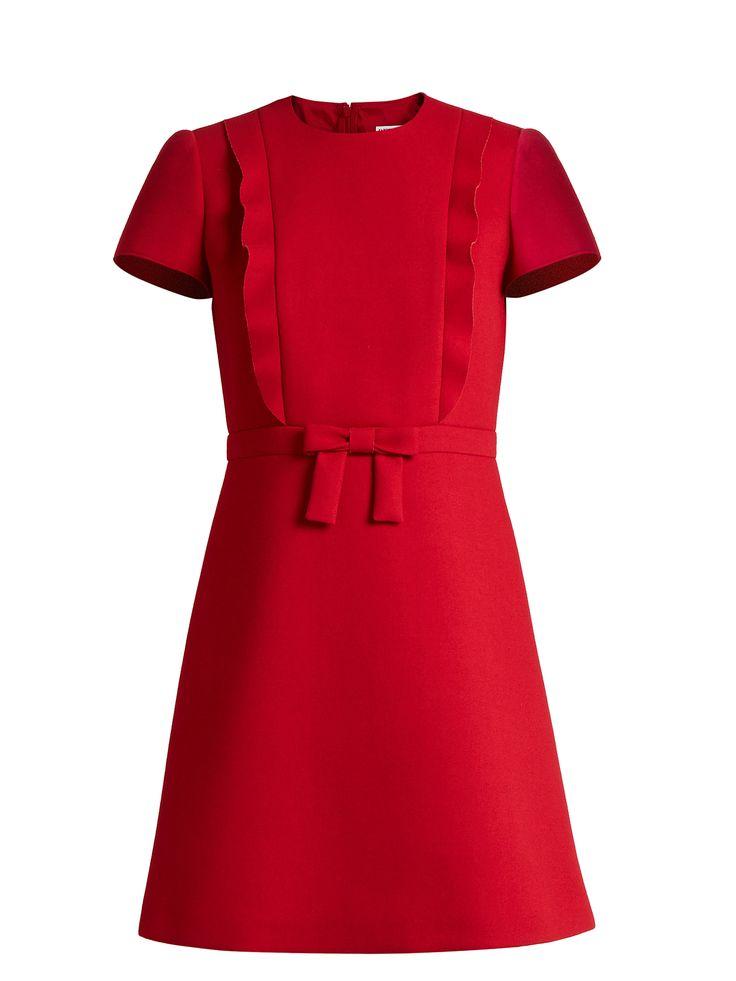 Bow-front crepe mini dress | REDValentino | MATCHESFASHION.COM UK