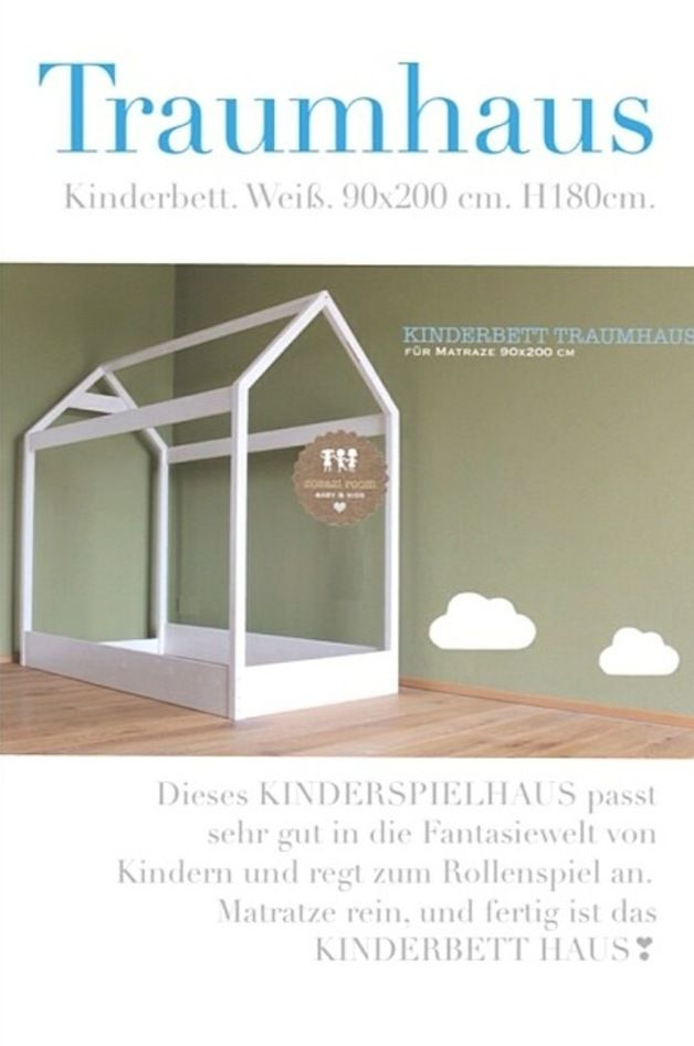 traumhaus xl kinderbett 90 x 200 cm products and haus. Black Bedroom Furniture Sets. Home Design Ideas