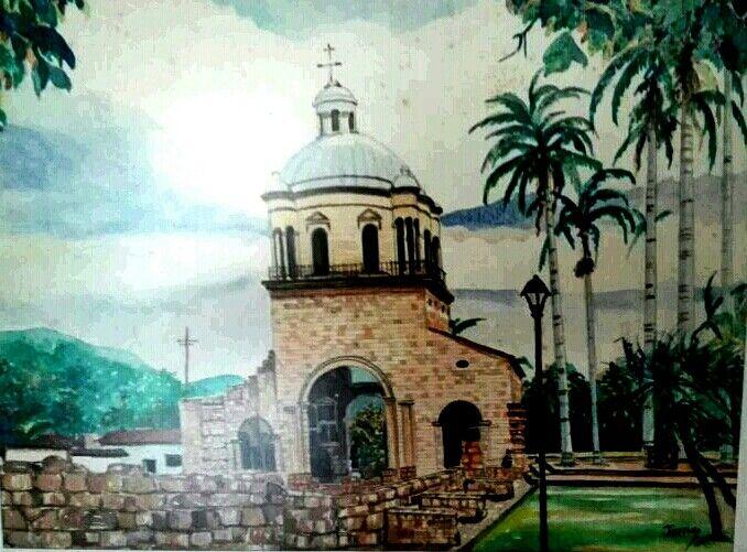 Acuareala Capilla de Villa de Rosario