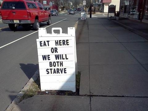 Funny Restaurant Sign