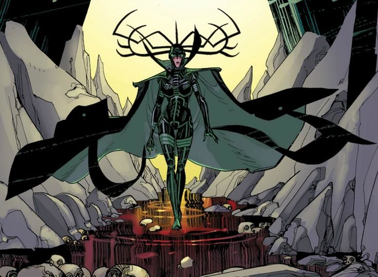 Hela - Marvel's supervillainess &  Goddess of Death, appointed by Odin himself. She rules over the dead in the realms of Hel and Niflheim.