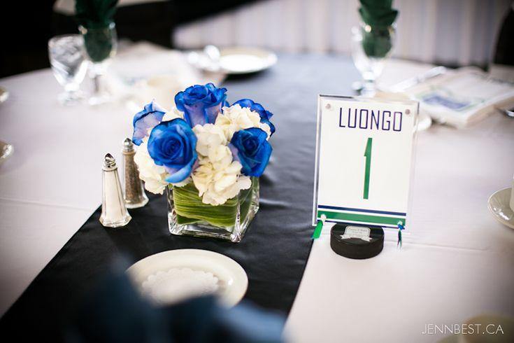Hockey Themed Wedding Centerpiece Ideas