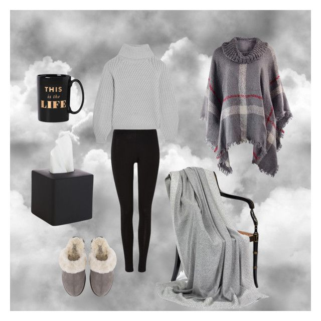 """""""Sick lady"""" by emka-kruta on Polyvore featuring Iris & Ink, UGG, Kate Spade and CB2"""