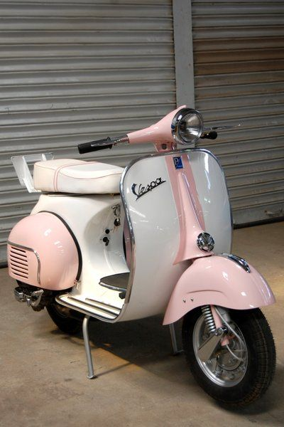 decisions.... blue or pink????  Visual Gratification - VESPA - Now & Then