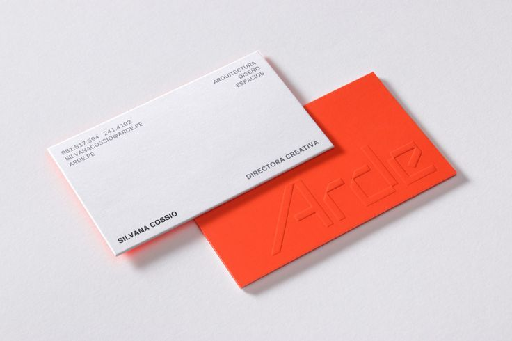 Logotype And Duplex Business Card For Lima Based Architecture And Design Firm Arde By Business Card Design Minimal Business Card Design Embossed Business Cards