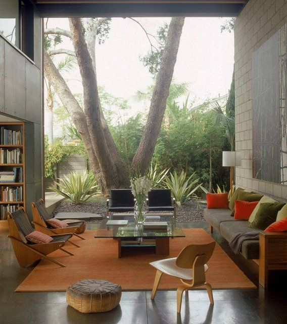 700 Palms Residence By Ehrlich Architects. Love The Huge Window And Huge  Tree! Find This Pin And More On 1930u0027s House Living Room Ideas ...