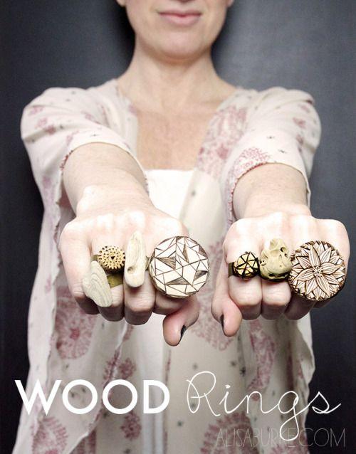 #diy ¡#anillos de madera!