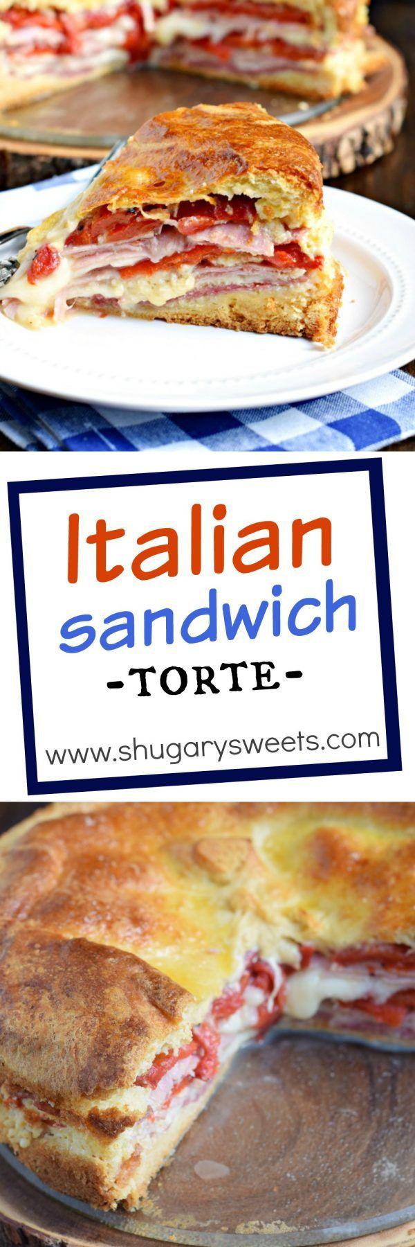 Sandwich torta italiana: perfecto para el desayuno o una cena noche!  Media Luna…