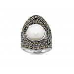 Bevilles Mesmorized Sterling Silver Ring made with Swarovski Marcasite is a stunning piece of jewellery to suit any occasion.  #GatsbyJewellery #Jewellery #Pearls #Fashion