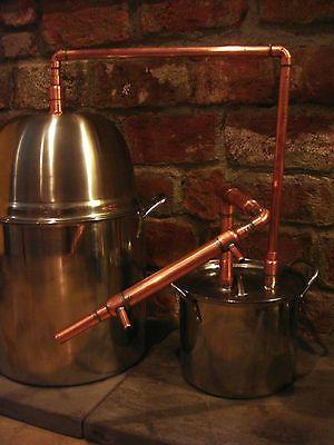 5 GALLON Steel Copper Pot Still Boiler & Thumper Distill Distillation Moonshine