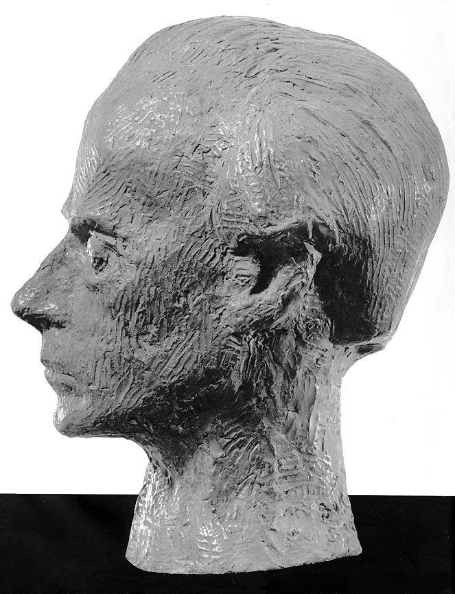 Bokros Birman Dezső: Bartók (oldalnézet) 1961. Gipsz, magasság: 30 cm