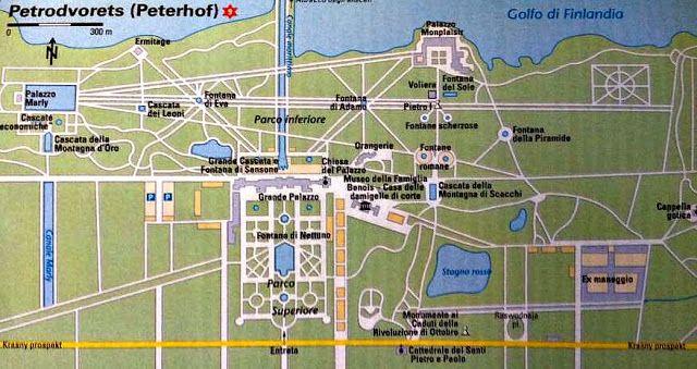 Mappa di Peterhof