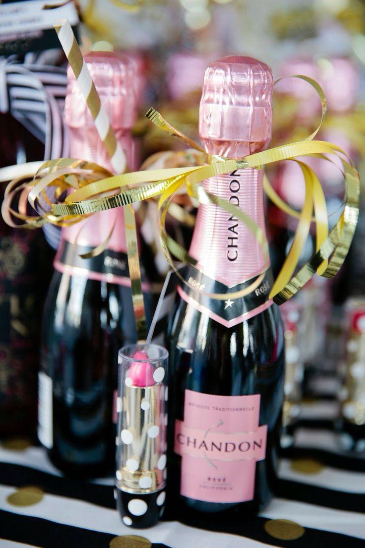 Kate Spade Lingerie Shower, mini champagne favor