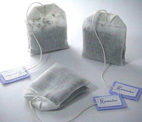 Bolsitas de té de lavanda