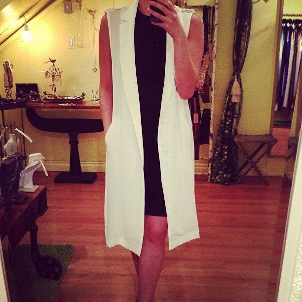 long white drape vest #local #vancouver #fashion