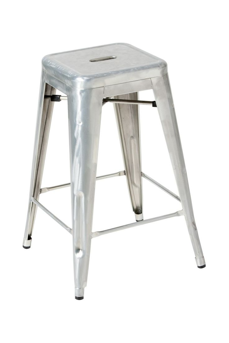 Replica Xavier Pauchard Counter Stool 65cm Galvanised Steel -- This durable French cafe style stool is based on the original design by Xavier Pauchard