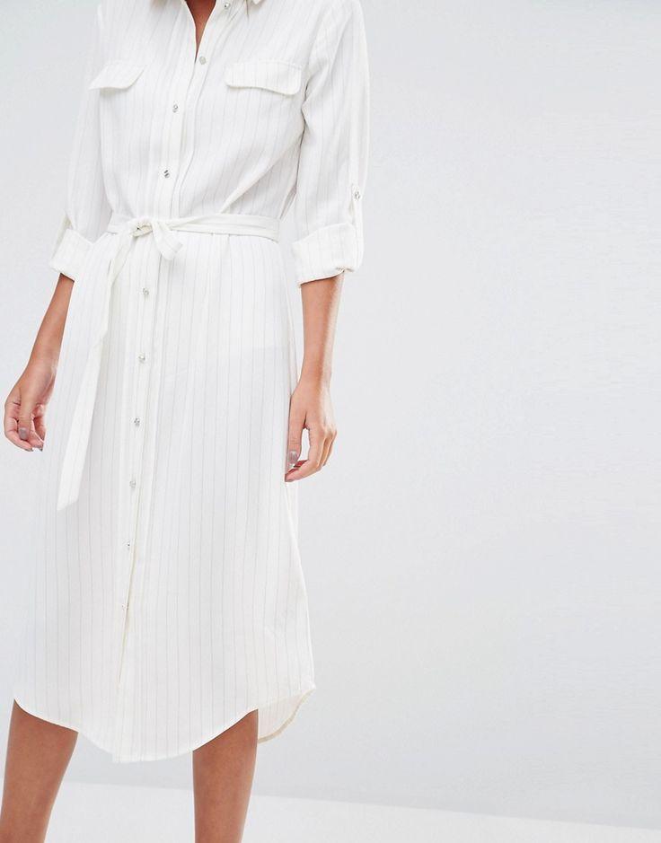 OASIS Pinstripe Shirt Dress AW16