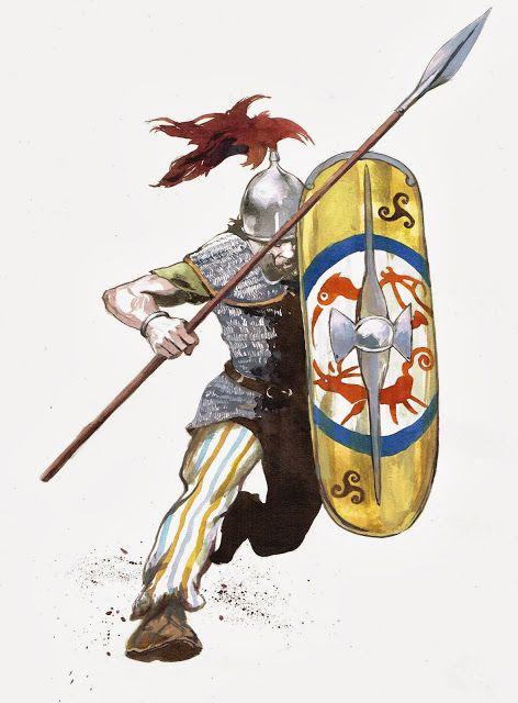 La guerre des Gaules: warriors...