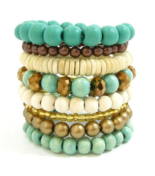 Aqua Gold Bracelet Coil