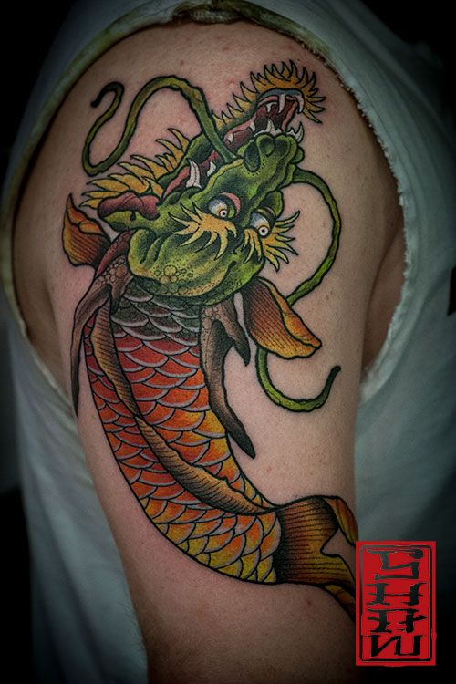 Tattoo by Stephen Shaw #dragontattoo