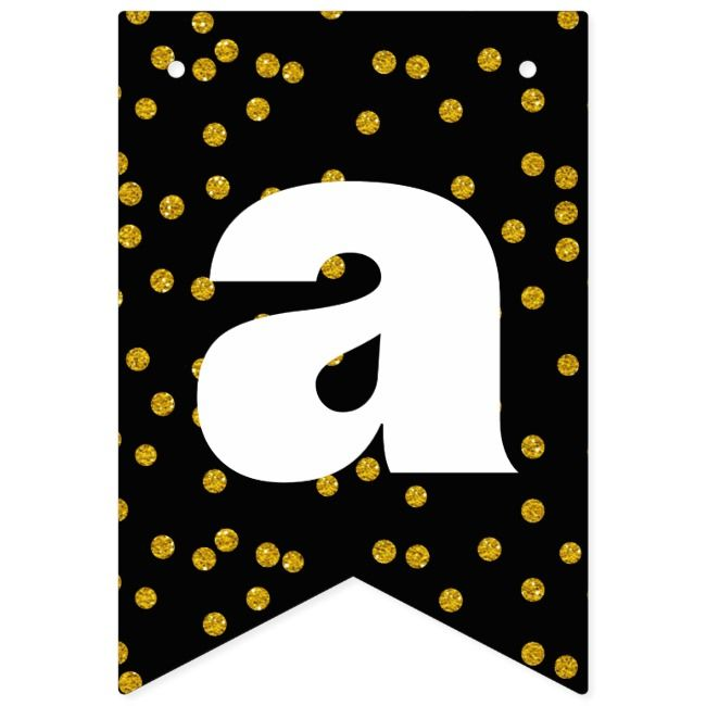 Create Your Own Bunting Banner Zazzle Com In 2020 Bunting Banner Happy Birthday Black Bunting Flags