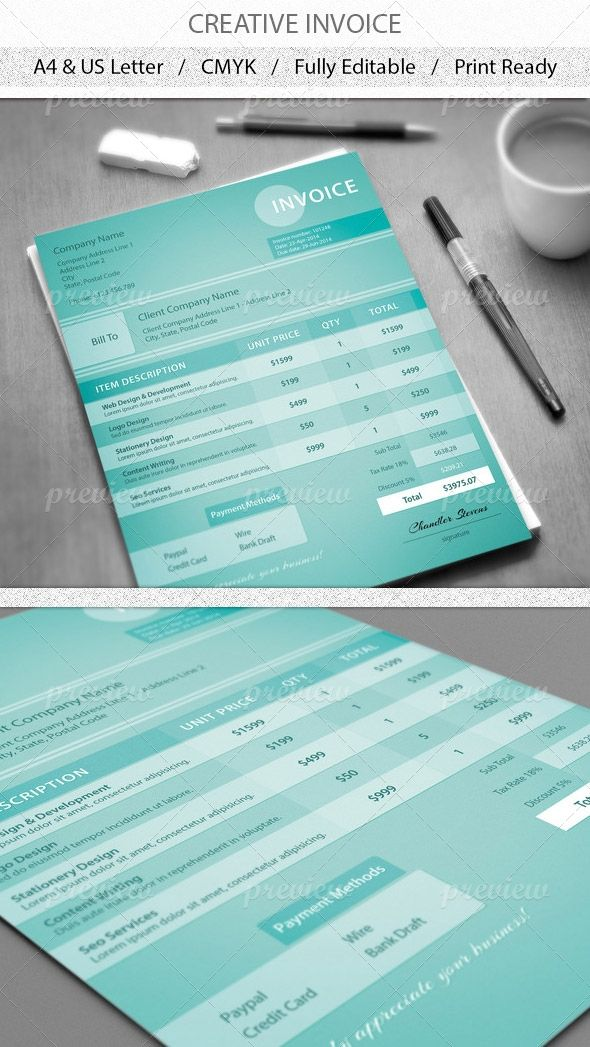 65 best invoice images on Pinterest Invoice template, Invoice - printed invoices