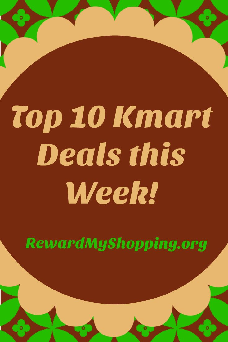 Grab the Top 10 Deals at Kmart this week! Save on lawn & garden, tools, clothes, baby, furniture & appliances. Get $10 back in points on $30 Home purchase.