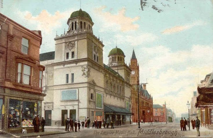 The Empire Music Hall, Middlesbrough Postmarked 1904. Still standing and still providing musical entertainment!