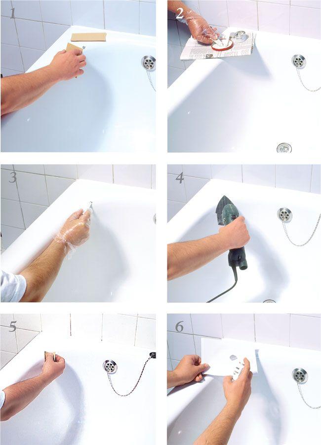 Oltre 25 fantastiche idee su vasche da bagno su pinterest - Smalto per pareti bagno ...