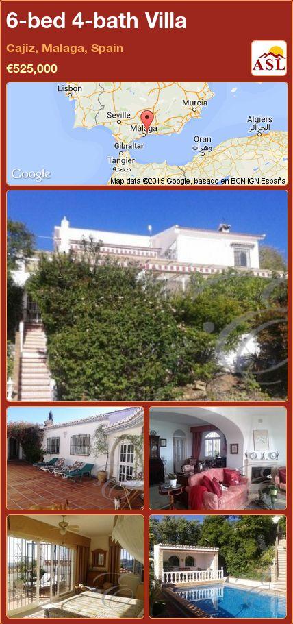 6-bed 4-bath Villa in Cajiz, Malaga, Spain ►€525,000 #PropertyForSaleInSpain