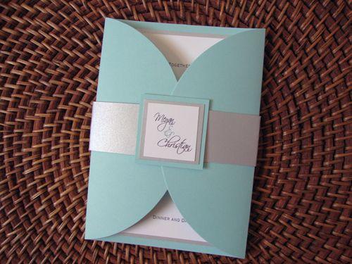 Tiffany blue & silver invitations