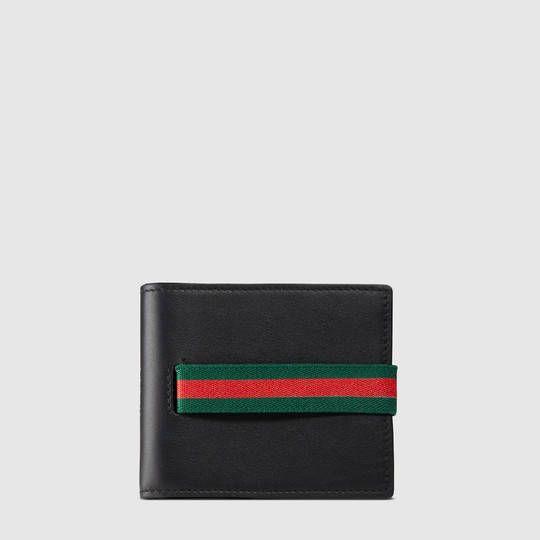 Portefeuille Gucci à élastique en cuir - Gucci Billeteras Homme 406474AP0XN1060