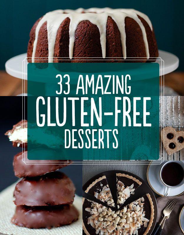 33 Amazing Gluten-Free Desserts...