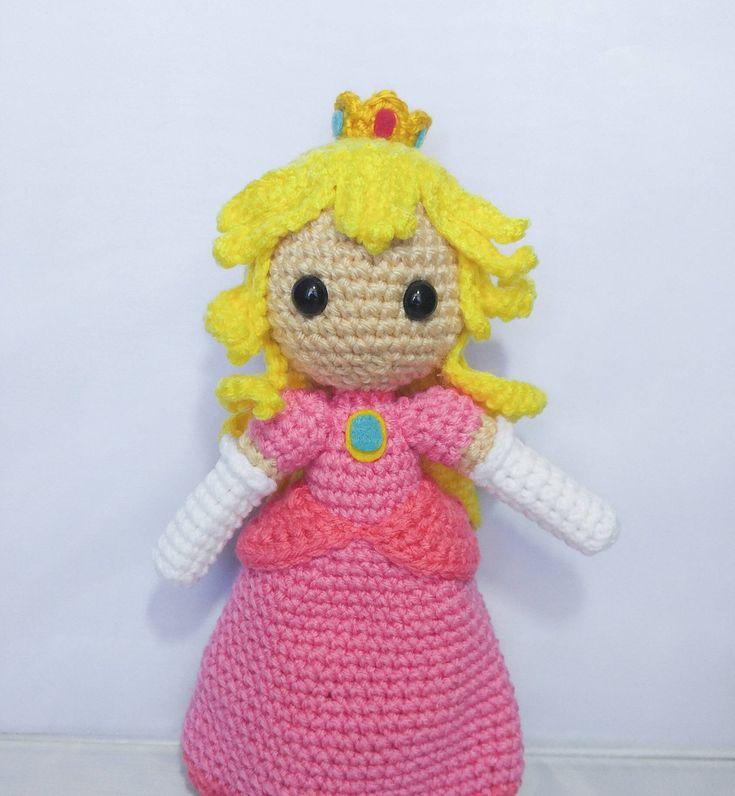 Amigurumi princess peach doll by milliescrochethouse on
