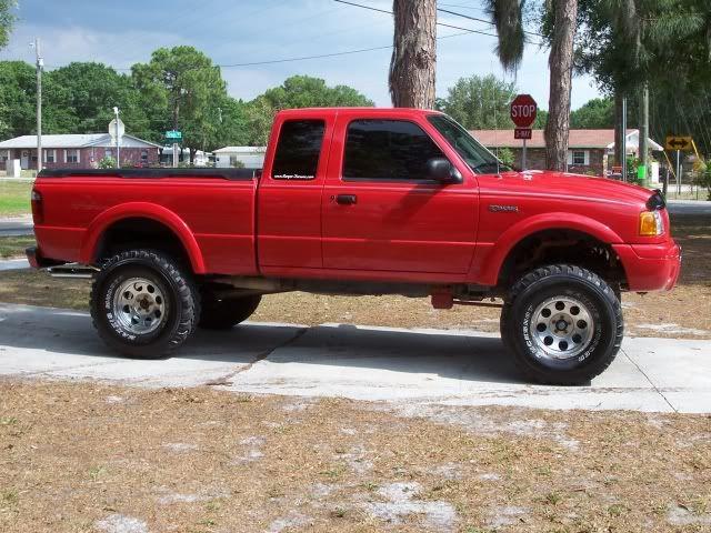 gloss red lifted Chevrolet Silverado Truck