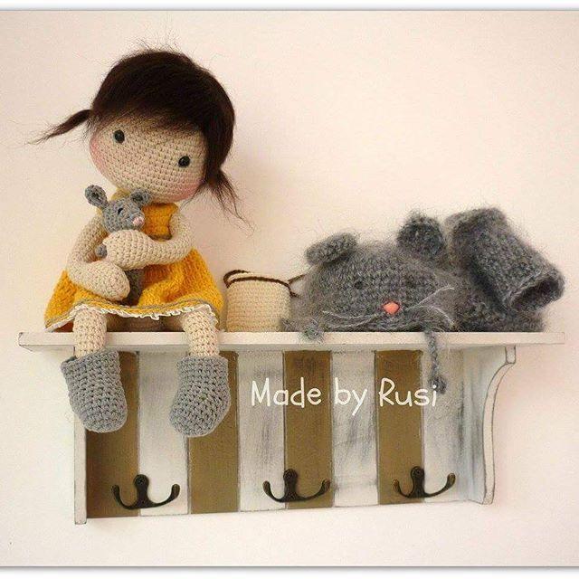Paula #crochet #crochetdoll #amigurumi #amigurumimouse #loveamigurumi #madebyrusi #rusidolls