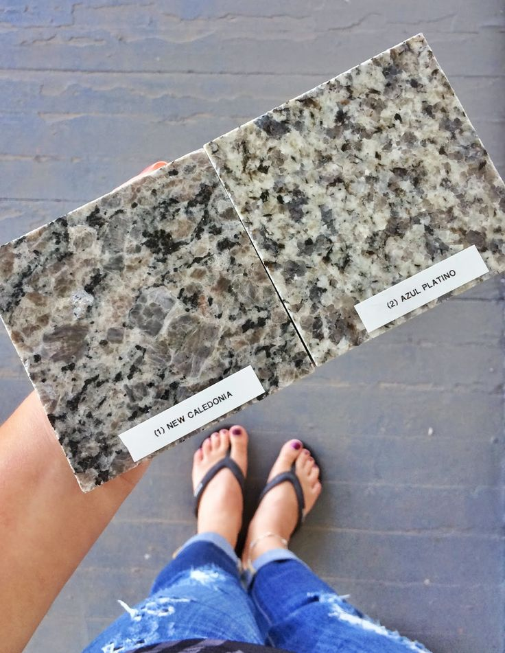 Changed our granite from New Caledonia to Azul Platino ...