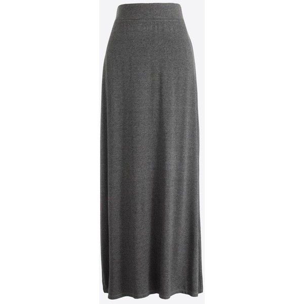 J.Crew Jersey maxi skirt ($45) ❤ liked on Polyvore featuring skirts, fold over jersey maxi skirt, maxi skirt, fold-over maxi skirts, j crew skirts and jersey foldover maxi skirt