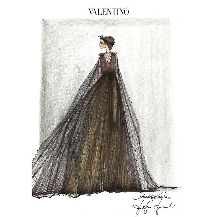 Another costume designed for Flora from La Traviata, by Creative Directors Maria Grazia Chiuri and Pierpaolo Piccioli.