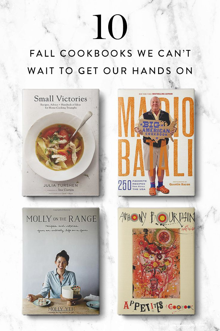 10 Fall Cookbooks We Can't Wait To Get Our Hands On