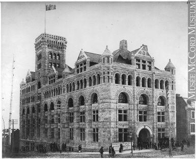 New Windsor Station, C.P.R., Peel Street, Montreal, QC, 1888