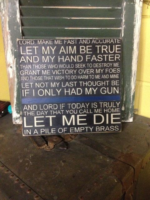 Let me die in a pile of brass police sign by CreativeMemoriesbysh, $28.00