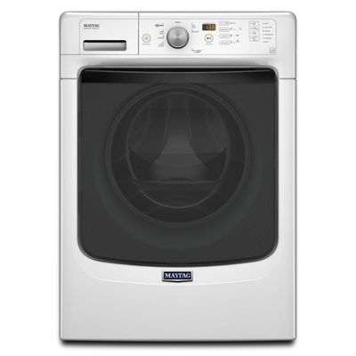 Maytag MHW3500FW 27-in 5-cu ft High-Efficiency Stackable Front-Load Washer Steam Cycle