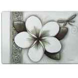 Lisa Pollock Green Frangipani plastic placemats, set of 4