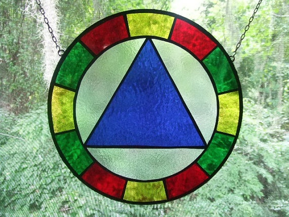 Aa Recovery Stained Glass Unity Symbol By Recoverycrafts