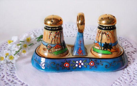 Shakers Vintage Miniature Tropical sel poivre Shakers Nippon Shakers lustre Shakers Japon ensemble de Condiment