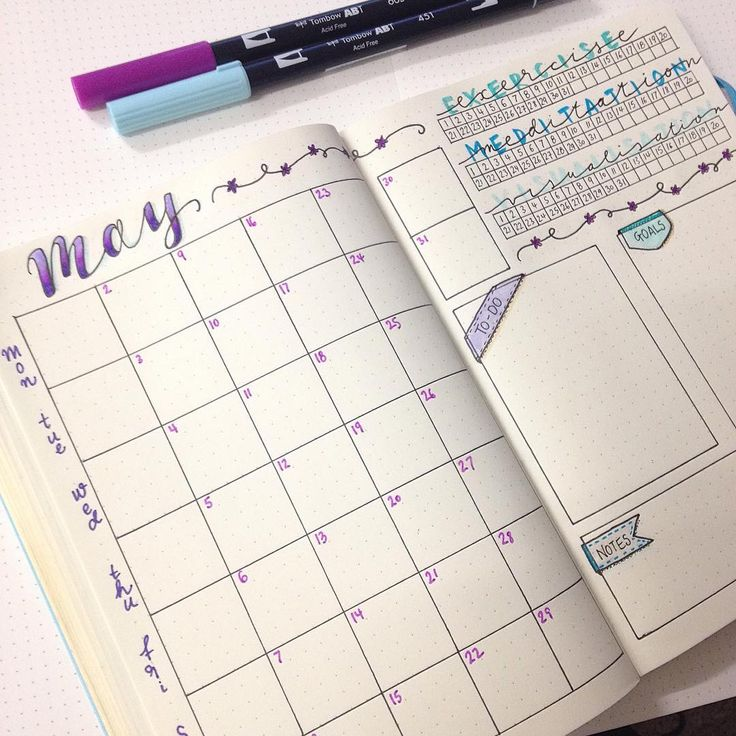This monthly layout is gorgeous!